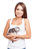 I love my furry little friend. Stock Images