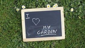 I love my garden Royalty Free Stock Photography
