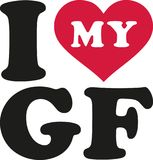 I love my girlfriend gf. Icon Royalty Free Stock Photos