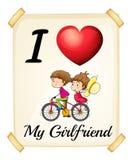 I love my girlfriend royalty free illustration