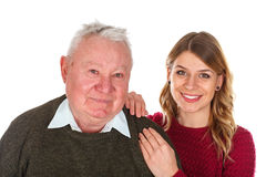 I love my grandfather Stock Images
