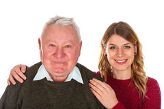 I love my grandfather Royalty Free Stock Photo