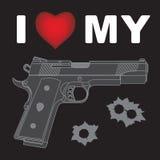 I Love My Gun Royalty Free Stock Photography