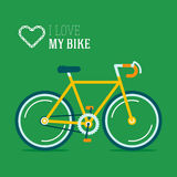 I love my hypster bike vector illustration Royalty Free Stock Photography