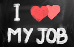 I Love My Job Concept Royalty Free Stock Photos