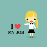 I love my job woman version Royalty Free Stock Images