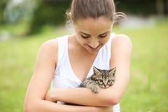I love my kitty Stock Photography