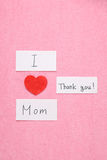 I Love my Mom concept. Stock Images