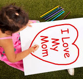I Love My Mom Message As Symbol For Best Wishes. I Love My Mom Message As A Symbol For Best Wishes Stock Images