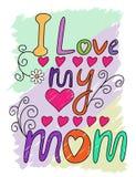 I Love My Mom T-shirt Typography, Vector Stock Photo