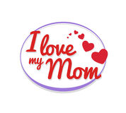 I love my mom vector Stock Photo