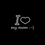 I love my mommy icon. I love my mom line icon, mother`s day, holiday vector graphics, a linear pattern on a black background, eps 10 Vector Illustration