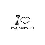 I love my mommy icon. I love my mom line icon, mother`s day, holiday vector graphics, a linear pattern on a white background, eps 10 Stock Illustration