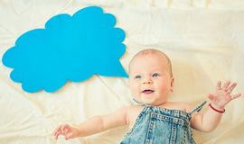 I love my parents. Childhood happiness. Portrait of happy little child. Small girl. I can speak. Word in cloud. Sweet