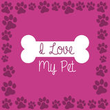I love my pet Royalty Free Stock Image