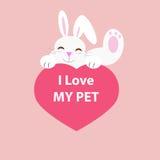 I love my pet vector Stock Photography