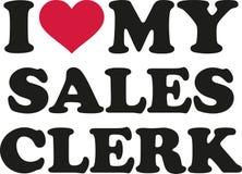 I love my sales clerk Stock Photos