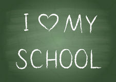 I love my school Royalty Free Stock Image