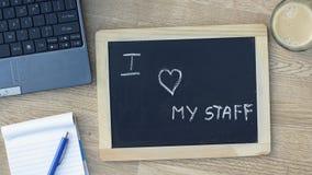 I love my staff Stock Image