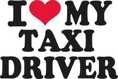 I love my taxi driver Royalty Free Stock Photo
