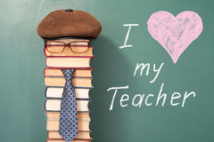 I love my Teacher. Funny education concept royalty free stock image