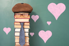 I love my Teacher. Funny education concept royalty free stock photos