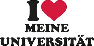I love my university german. Vector Royalty Free Stock Images