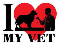 I Love My Vet Stock Images
