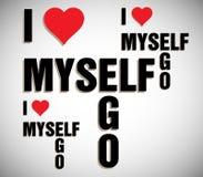 I love myself Stock Image