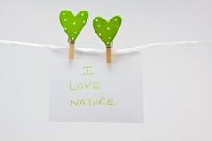 I love nature Royalty Free Stock Image