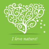 I Love Nature Heart Tree Symbol Royalty Free Stock Image