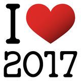 I love 2017 new year greetings Royalty Free Stock Photography
