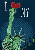 I Love New York Poster Royalty Free Stock Photos