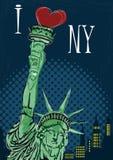 I Love New York Poster Royalty Free Stock Photos