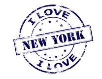I love New York. Rubber stamp with text New York inside, vector illustration vector illustration
