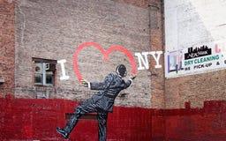 I Love New York Street Art on the side of a manhattan building. New York, USA - 27 September 2016: I Love New York Street Art on the side of a manhattan stock photo