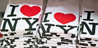I Love New York T-shirts stock images