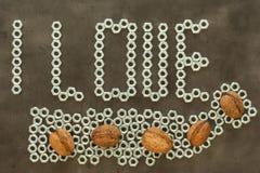 I love nuts Stock Photo