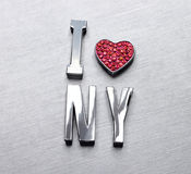 I love NY. Is for designer use metal word I love Newyork stock illustration