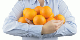 I love oranges Stock Photography