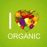 I love organic food an illustration Royalty Free Stock Images