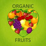 I love organic food an illustration Stock Photo
