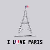 I love Paris card4 Stock Photos