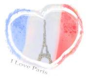 I Love Paris design Stock Photos