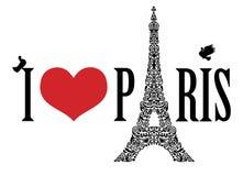 I love Paris. Royalty Free Stock Photos