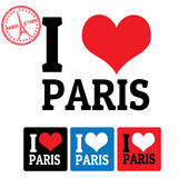 I love Paris sign and labels Stock Photos