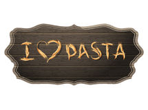 I Love Pasta concept with copyspace. EPS 10 Royalty Free Stock Images