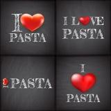 I love pasta Set handwritten. EPS 10 Stock Photography