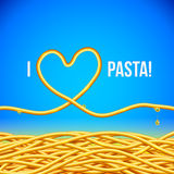 I love pasta vector background Royalty Free Stock Photos