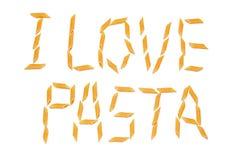 I love pasta Royalty Free Stock Photography